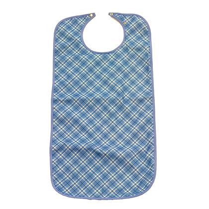 Clothing Protector Bib Felt Blue Plaid 90 x 45cm