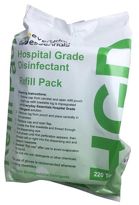 HGD Hospital Grade Disinfectant Wipes, Refill/220 wipes