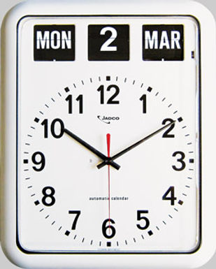 Jadco Time Analogue Calendar Clock 12hr