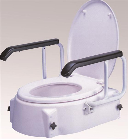 Raised Toilet Seat with Arms is ergonomically designed which comes with  adjustable heights for patients who find standard toilets to difficult. Fixed Raised Toilet Seat with Arms   www novamedicalaustralia com
