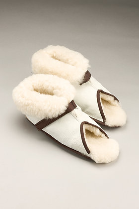 Sheepskin Slippers Open Toe