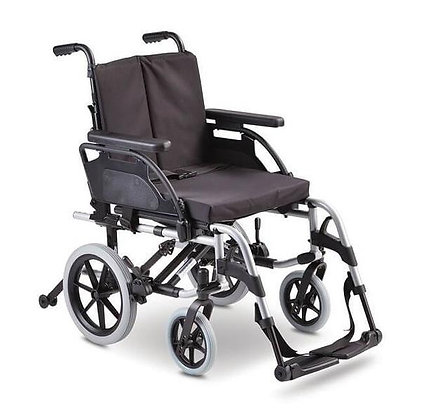 Breezy Basix 2 Folding Backrest Transit 20X16/18 Silver