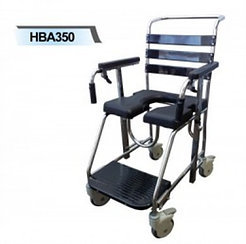 Stainless Steel Mobile Shower Commode  SWL 200kg