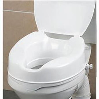 "Savanah Raised Toilet Seat, with Lid 2, 4, 6"" sizes SWL 150kg"