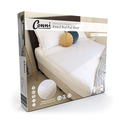 Conni Fitted Bed Pad Sheet Single
