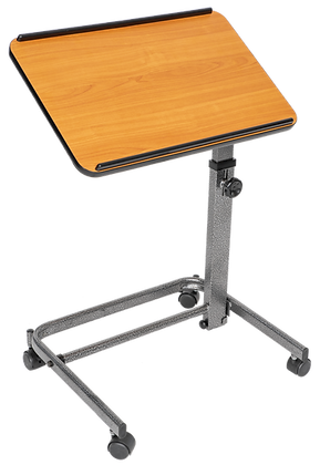 Overbed Or Laptop Table With Tilting And Height Adjustable Casters