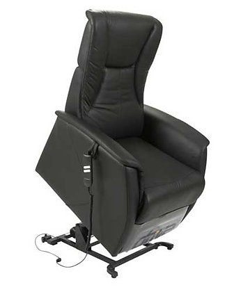 Dual Motor Pure Leather Lift Recliner Chair SWL 130kg