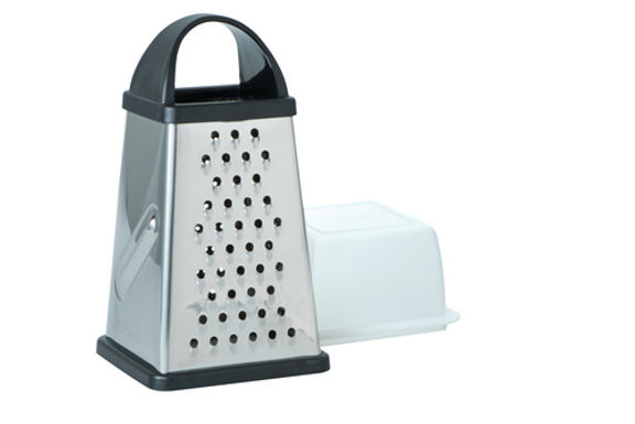 Stainless Steel 4 Sided Box Grater with Storage Box