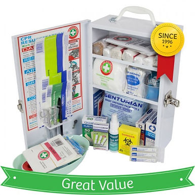 Workplace Compliant First Aid Kit- Metal, Wall-Mount