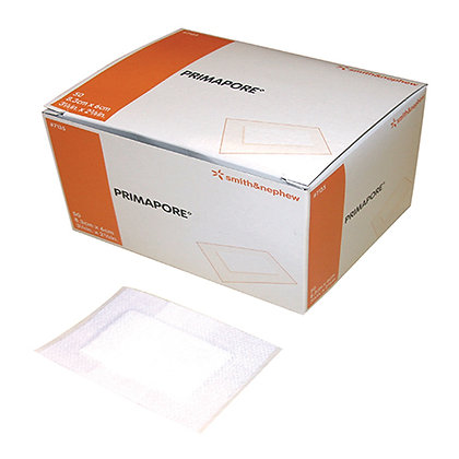 Primapore Dressing Low Adherent Pad Cloth Backing 6 x 8.3cm Box of 50