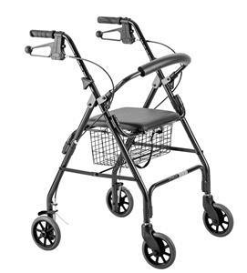 """6"""" Wheels Seat Walker with Curved Backrest"""