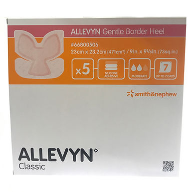 ALLEVYN Gentle Border Heel 23CM X 23.2CM Box of 5