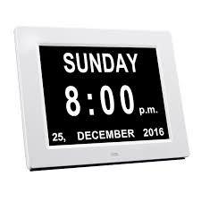 "TabTimer 8"" Digital Calendar Day Clock - Orientation Clock"
