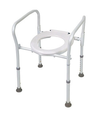 Aluminium Folding Over Toilet Aid, without Bucket and Lid SWL 100kg