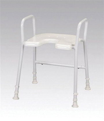 Aluminium Shower Stool with Arms SWL 130kg