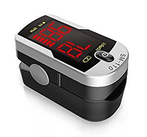 Two Way Display Finger Pulse Oximeter with Carry Case and Neck/Wrist Cord