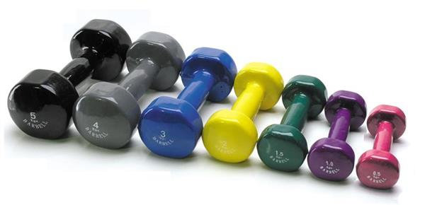Dumbbell 1kg, Vinyl Coated Single Unit