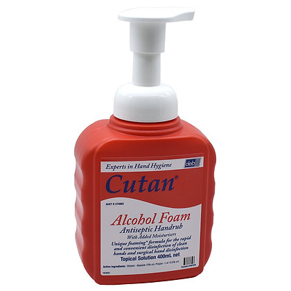 Cutan Alcohol Foam Hand Sanitiser 400ml Each