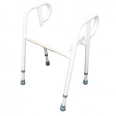 Shower Stool Chair Padded  Aluminium 52CM SWL 250kg