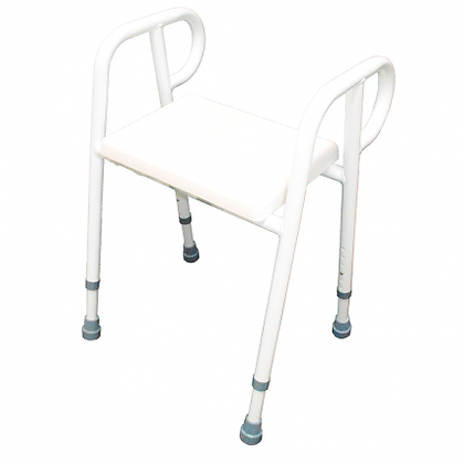 Shower Stool Chair Padded  Aluminium 52CM SWL 250kg