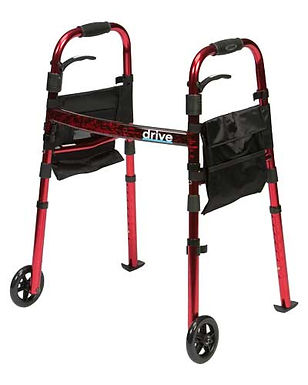 """Deluxe Folding Walker 5"""" with Glides SWL 130kg"""