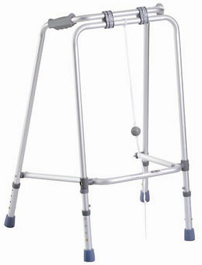 Foldng Walking Frame with Ball SWL 125kg