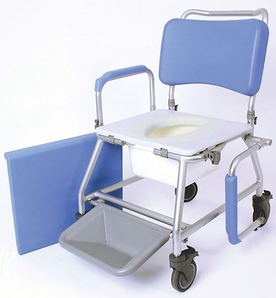 """Atlantic Wave Commode and Shower Chair, 18"""", Closed Seat SWL160kg"""