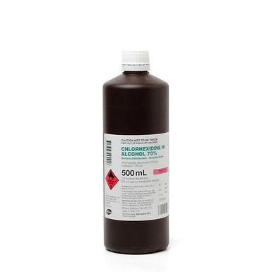 Chlorhexidine 0.5% Ethanol Alcohol 70% Pink Tint 500ml