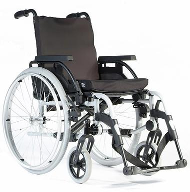 Breezy Basix 2 Fixed Backrest Solid Wheel Self Propel 16x16/18 Silver