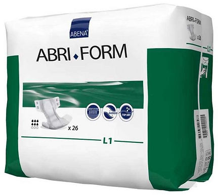 Abri Form Comfort L2 Large Waist 100 150cm Unisex 1400ml White Green Strip