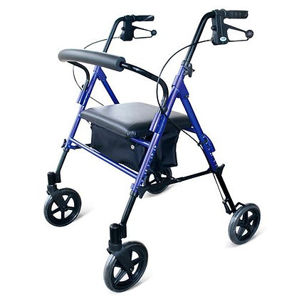 Rollator, Heavy Duty Adjustable Seat SWL158kg