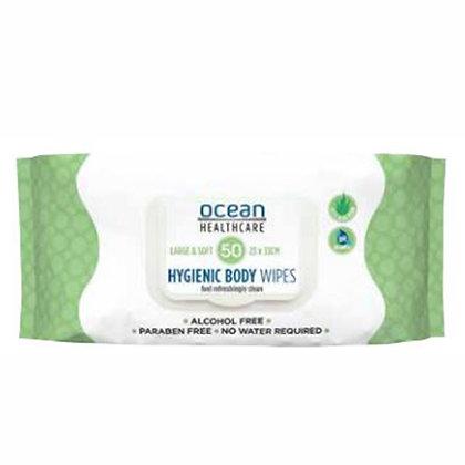 Ocean Body Bath Wipes Pkts of 50