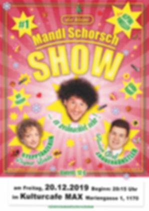 Mandl Schorsch Show Poster Xmas PRINT-2.