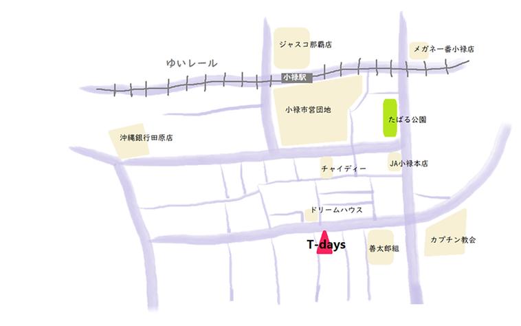 スタジオまでの手書きの地図