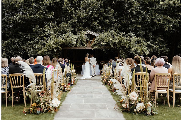 Pampas Grass Wedding Bury Court Barn
