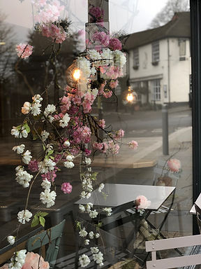 Window Styling by Hannah Berry Flowers