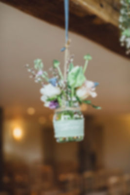 Wedding Flowers at Bury Court Barn in Surrey, Photo by Tracey Hosey