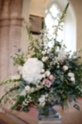 Photo by Dasha Caffrey, Wedding Flowers by Hannah Berry Flowers, Farnham