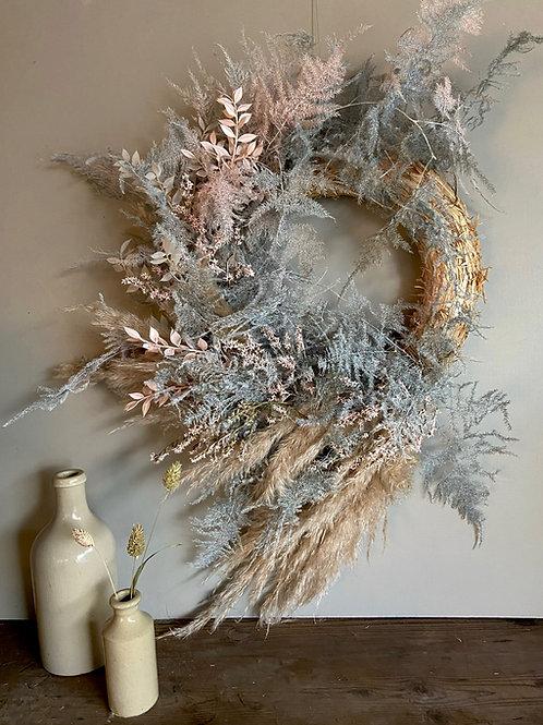 Soft Pink Everlasting Wreath