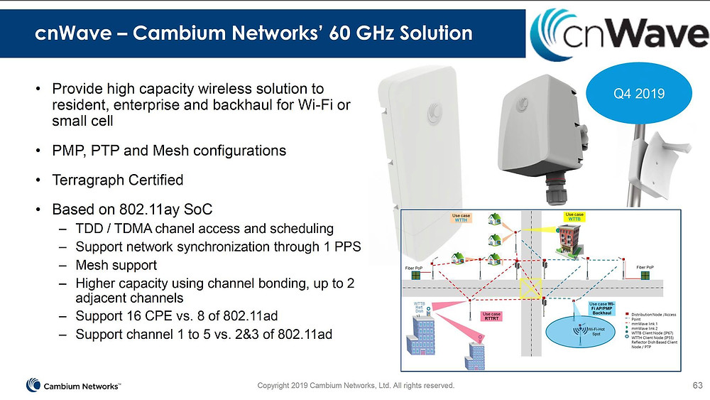 cnwave - cambium networks's 60 GHz solution