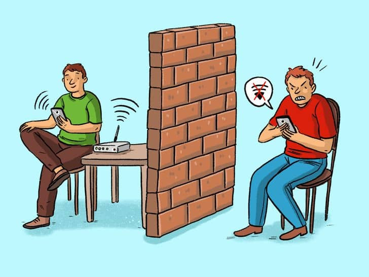 the biggest enemy makes wifi slow are walls