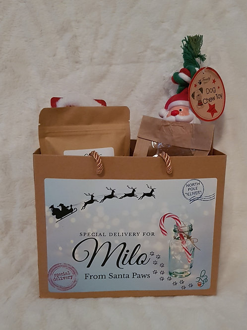 Personalised Christmas Treat Bag (With or without Toys)