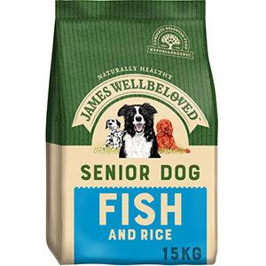 James Wellbeloved Ocean White Fish and Rice Senior Dog 15kg