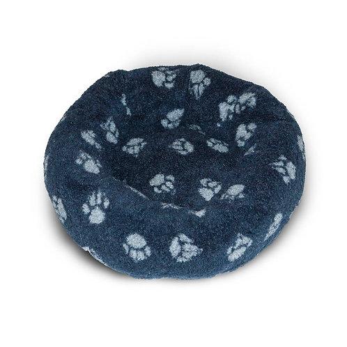 Danish Design Sherpa Fleece Navy Cushion Bed