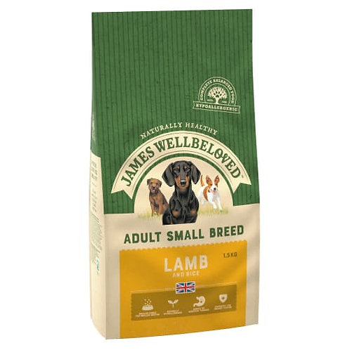 James Wellbeloved Dog Food Lamb and Rice Adult Small Breed (1.5kg)