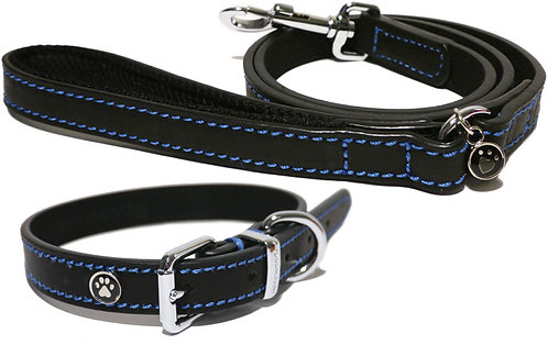 Rosewood Luxury Leather Dog Lead - Black