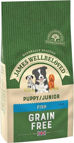 James Wellbeloved Dog Food Fish & Veg Puppy Grain Free (1.5kg)