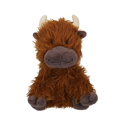 Rosewood Super Tough Plush Rope Core Cow Toy