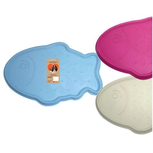Rubber Placemat Cat Design - Blue Fish