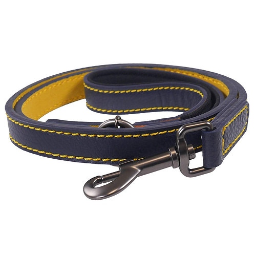 Joules Leather Navy Dog Lead